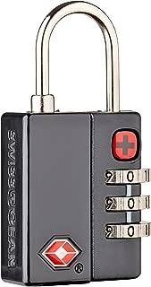 Wenger 604563 TSA 3-Dial Combination Lock, Black, 6 Centimeters