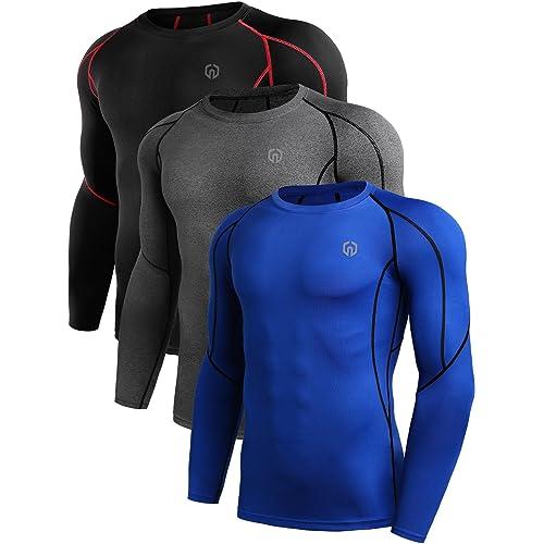 c4322b6d2 Neleus Men's Dry Fit Athletic Compression Shirt Pack ...