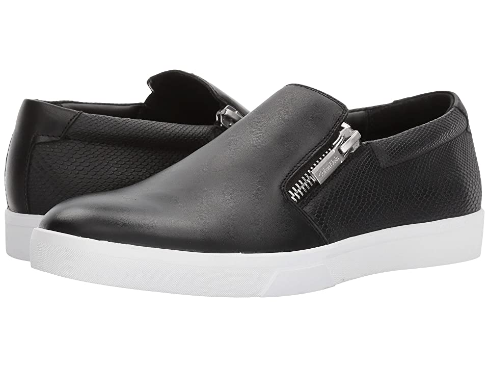Calvin Klein Ibiza (Black Nappa Smooth Calf/Emboss Soft Leather) Men