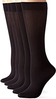 Women's 5 Pack Essentials Trouser Knee High Socks