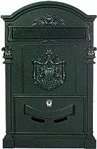 Antieke grote en zeer elegante brievenbus LB-001-Long Green muurbrievenbus, brievenbus, nostalgische Engelse brievenbus al...