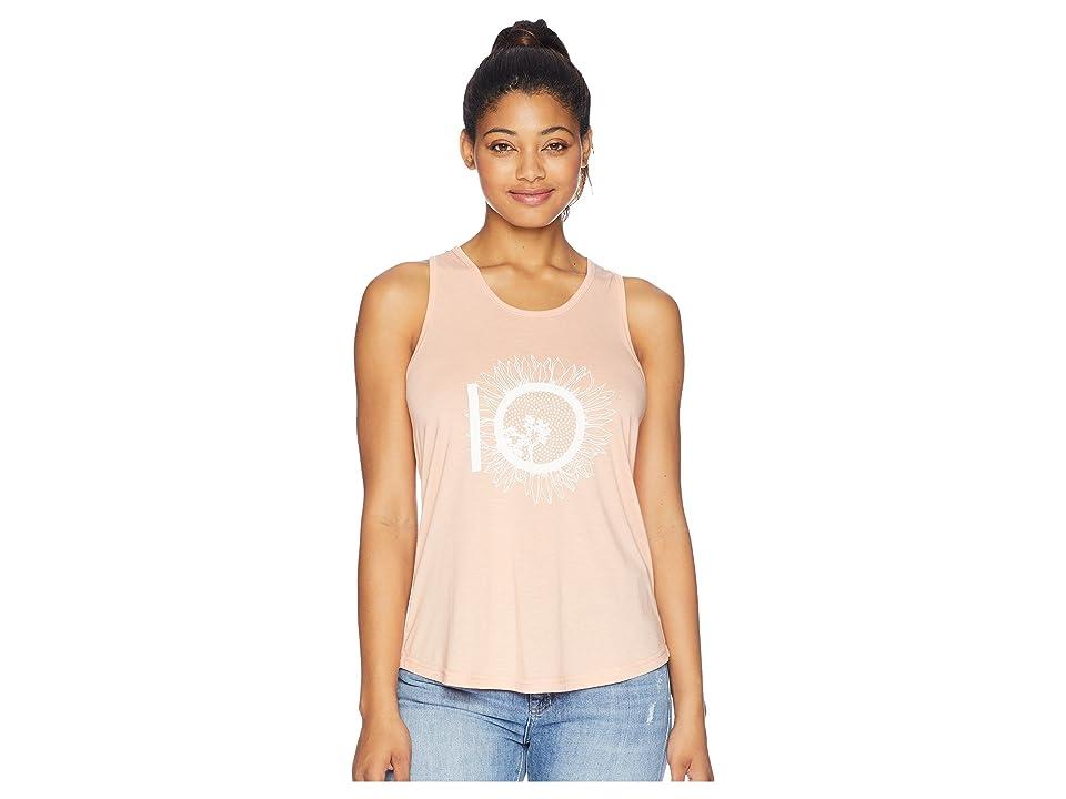 tentree Luna Sunflower Logo Tank Top (Dusty Pink) Women