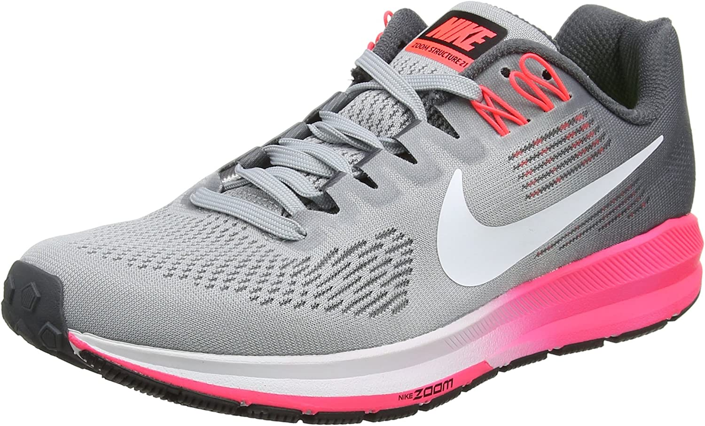 Nike Woherrar W AIR Zoom Structure 21, 21, 21, svart  vit - Wolf grå  det senaste
