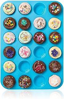 Wady Grand moule en silicones 24 emplacements pour cupcakes et muffins antiadhésif et résistant à la chaleur jusqu'à 230°C...