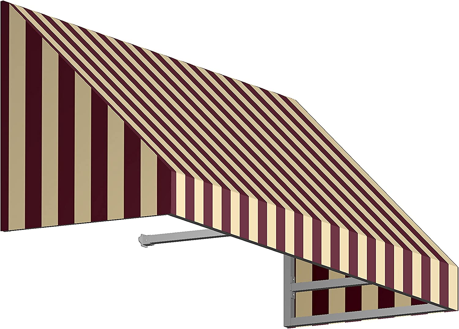 AWNTECH 6 ft. New Yorker Rigid Max 88% OFF Window Raleigh Mall Door Style Valance Awning