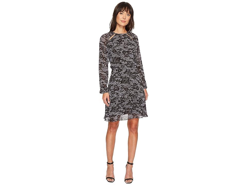 MICHAEL Michael Kors Delicate Lace Dress (Black/White) Women