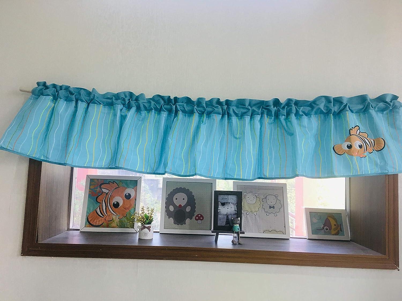 Nursery Room Cheap Window Valance Forest Sea Animals Car Journey Columbus Mall Windo