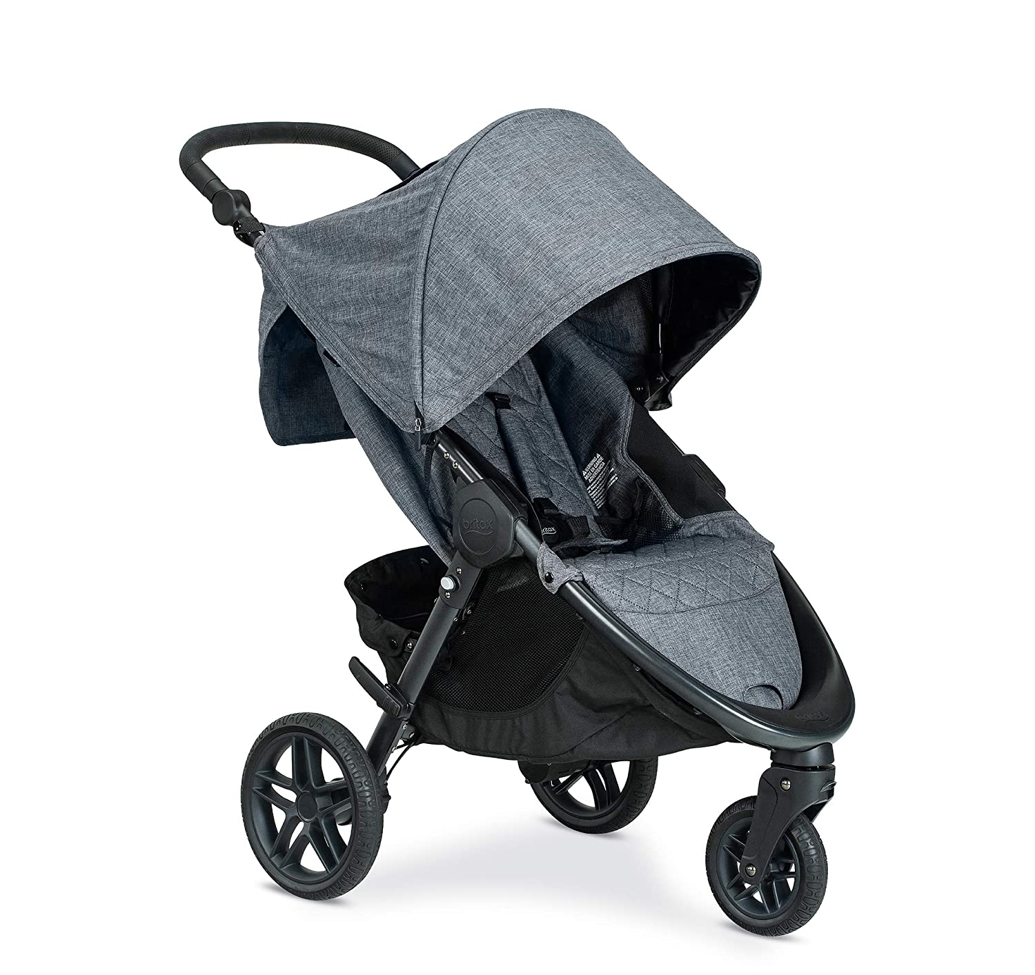 Britax B-Free Stroller | All Terrain Tires + Adjustable Handlebar + Extra Storage with Front Access + One Hand, Easy Fold, Vibe