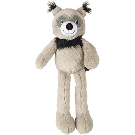 Goofy Tails Snuggle Bear Squeaky Dog Toy  Plush Toy for Dogs for Small & Medium Breeds (Light Grey)