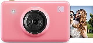 Kodak Mini Shot Wireless Instant Digital Camera & Social Media Portable Photo Printer, LCD Display, Premium Quality Full Color Prints, Compatible w/iOS & Android (Pink)