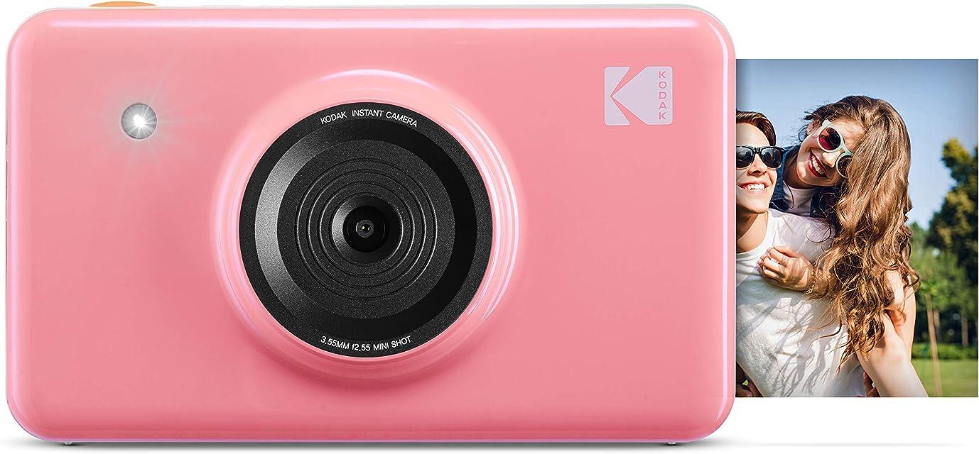 Kodak Mini Shot - Impresiones inalámbricas de 5 x 7.6 cm con 4 Pass tecnología de impresión patentada cámara digital de impresión instantánea 2 en 1 rosa