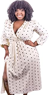 ALBERTA VENIECE The French VanillaxCoffee Polka Dot Dress