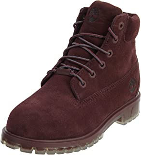 Timberland 6 inch Big Kid's TPU Outsole Waterproof Suede Premium Boots Dark Red tb0a1bkh