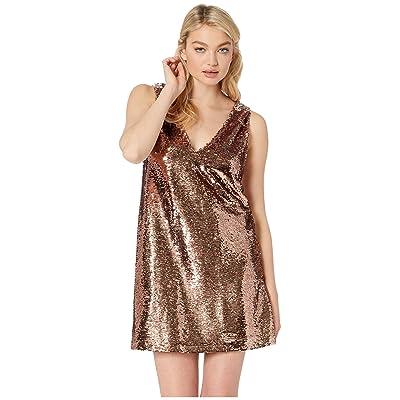 BB Dakota Sparkle Motion Sequin Dress (Rose Gold) Women