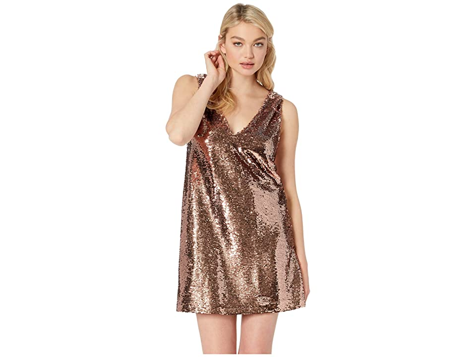 BB Dakota Sparkle Motion Sequin Dress (Rose Gold) Women