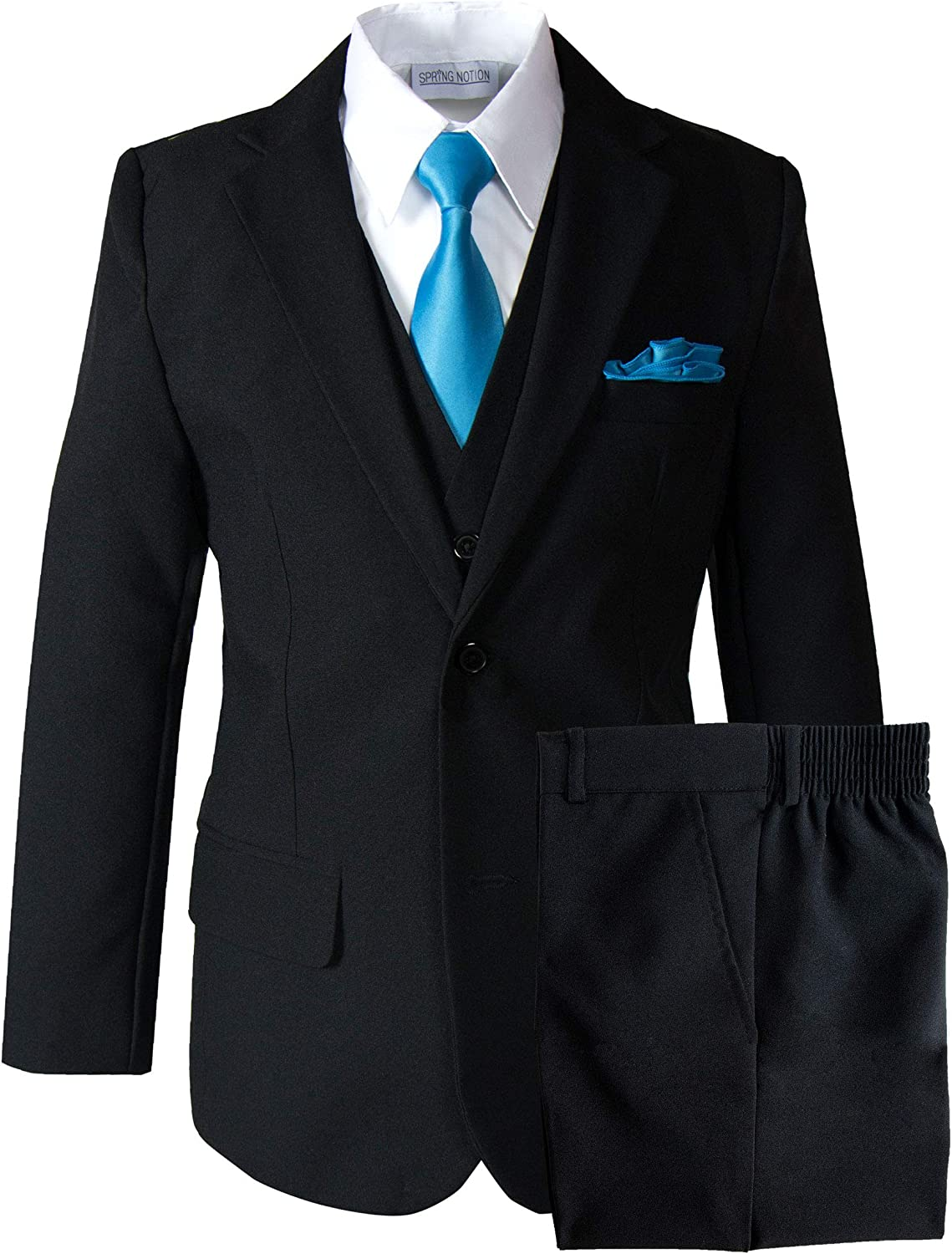 Cheap mail order shopping Spring Notion Big Boys' Modern Tulsa Mall Fit Dress Necktie Set Suit with a