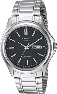 Casio Men's Black Dial Stainless Steel Analog Watch - MTP-1239D-1ADF