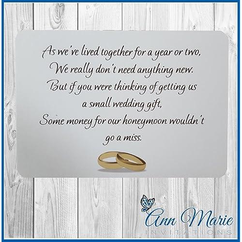 Gift Poems For Weddings: Wedding Money Poem: Amazon.co.uk