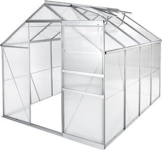 comprar comparacion TecTake Invernadero de jardín policarbonato Transparente Aluminio casero Plantas Cultivos - Varios Modelos - (250x185x195 ...