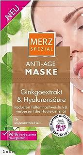 Merz Spezial Anti Age Maske – Gesichtsmaske mit Ginkgoextrakt & Hyaluronsäure – Reduziert Falten & verbessert die Hautelastizität – 1 x 10 ml