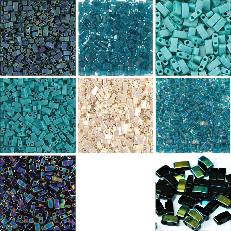 Sacramento Mall 1 2 TILA Direct stock discount 80 Grams Teal Turquoise B Half Tila Hole Blue Miyuki