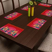 SEJ Abstract HD Digital Premium 12 by 18 inches Table Mats (Set of 6)
