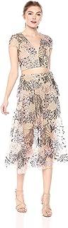 Dress the Pouplation Juliana Two Piece Lace Crop Top & Midi Skirt Set