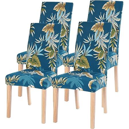 Banquete Fundas para sillas 2 Piezas Funda de Silla El/ástica PU Cubiertas para sillas Extra/íbles y Lavables Fundas sillas Impermeables y Resistentes al Aceite para Hogar Hotel Rojo, Pack de 2 -P