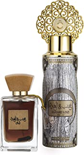 Arabiyat Khasb Al Oud Abyadh Perfume Gift Set For Unisex, Eau De Parfum, 100 ml + Deodorant, 200 ml