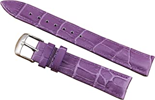 12-22mm Purple Luxury Leather Watch Bands Replacement for Women Moderate Padding Genuine Cowhide