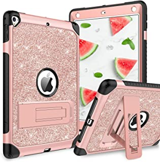 YINLAI Case for iPad Air 2/iPad 9.7 2017/2018/Pro 9.7, iPad 5th/6th Generation Case, Glitter 3 Layer Full Body Protective ...