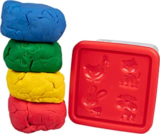 Crayola Dough - 儿童玩面团粘土 - 1 千克桶带 4 种颜色和动物模具