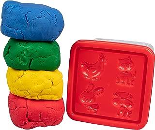 Crayola Dough - 兒童玩面團粘土 - 1 千克桶帶 4 種顏色和動物模具