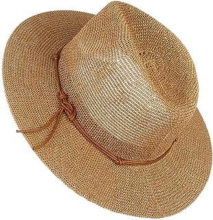 Kangol Cappello di Paglia Wicker Pork Pie da Sole Estivo Cappelli Spiaggia
