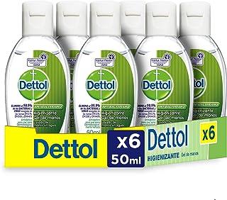 Dettol - Gel hidroalcoholico higienizante de manos - 50 ml x 6