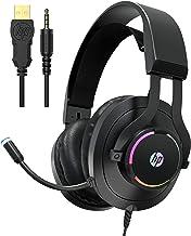 Fone de ouvido HP Gaming Xbox One com microfone, fones de ouvido para jogos PS4, PC, laptop, Nintendo Switch com microfone...