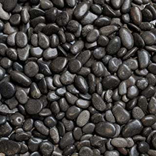 Midwest Hearth Natural Decorative Polished Black Pebbles 3/8