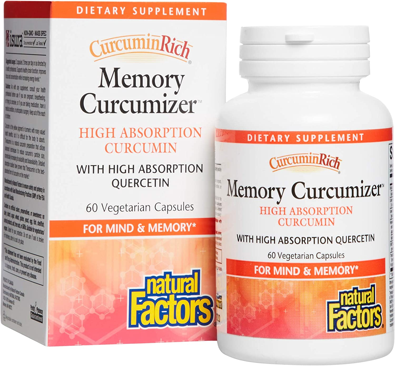 CurcuminRich Memory Curcumizer Challenge the lowest price by Factors Natural Brai Special price for a limited time Supports