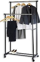 SimpleHouseware Double Rod Portable Clothing Hanging Garment Rack – Simple Houseware