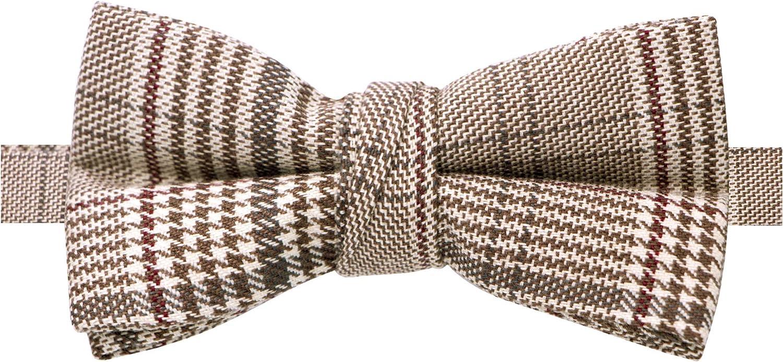 Spring Notion Boys' Glen Plaid Cotton Bow Tie