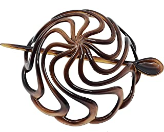 Camila Paris French Hair Bun Cover Cap Holder, Hair Pin Thru, Dome Round Hair Clips for Women Hair Updo, Styling Girls Hair Accessories, No Slip and Durable, Made in France