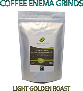 COFFEE ENEMA GRINDS - LIGHT GOLDEN ROAST - GERSON - AIR ROASTED - ORGANIC - FAIRTRADE by James Health 1000 Plus (400g)