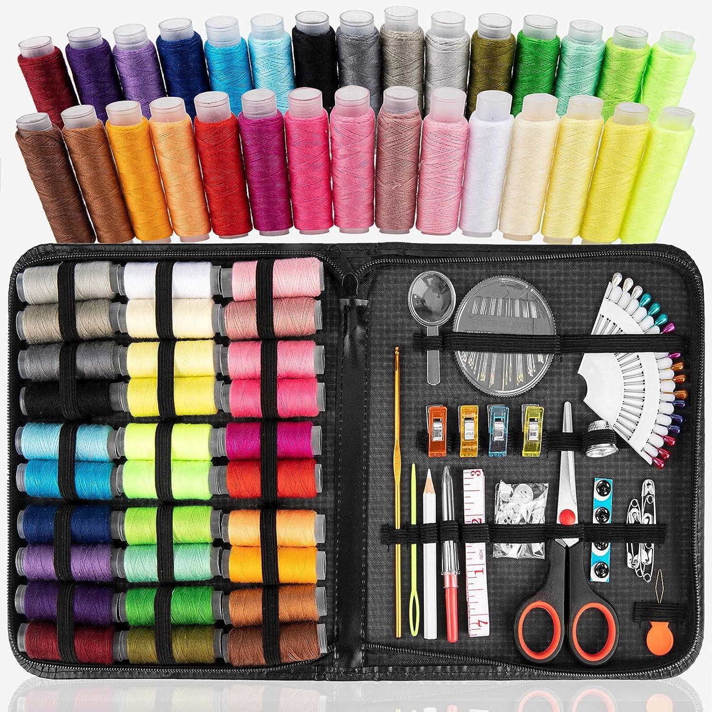 High order Xiphum Premium Sewing Kit 30 Thread, XL Spools San Antonio Mall Portable of