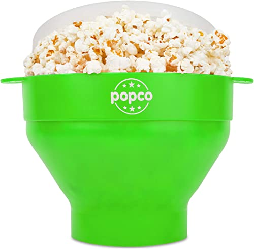 The Original Popco Silicone Microwave Popcorn Popper with Handles, Silicone Popcorn Maker, Collapsible Bowl Bpa Free ...