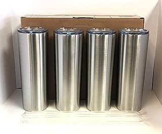 Maars 20 oz. Skinny Steel 4 Pack Double Wall Stainless Tumbler, Silver
