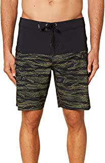 O'Neill Men's Water Resistant Hyperfreak Stretch Swim Boardshorts, 19 Inch Outseam