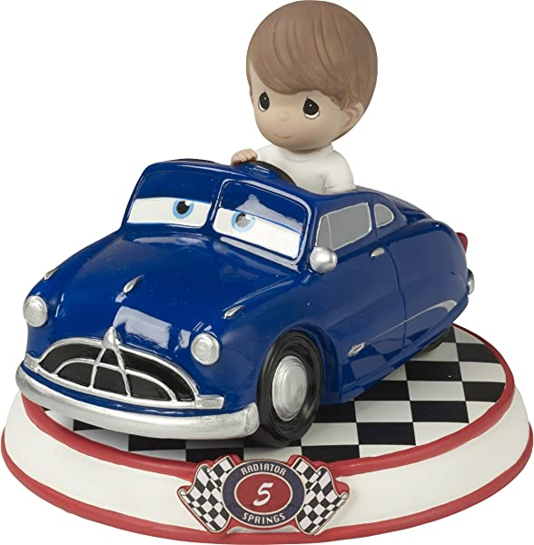 Precious Moments Doc Hudson Resin Figurine Cars 5 164435 Showcase Disney Pixar Collection Multicolor