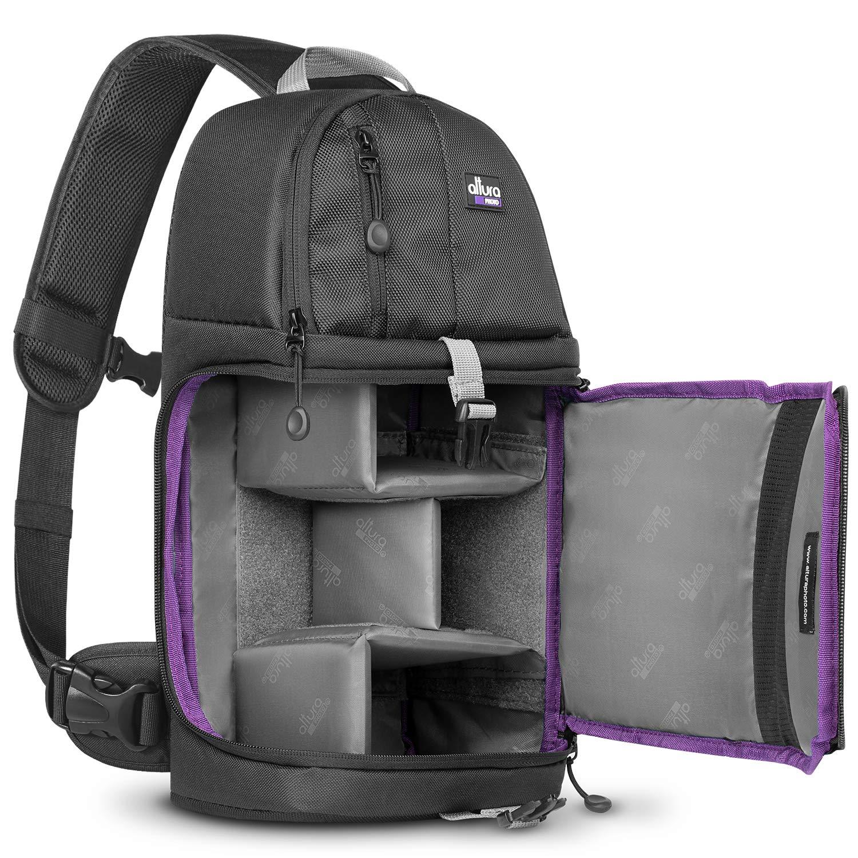 Amazon Com Altura Photo Camera Sling Backpack Bag For Dslr And Mirrorless Cameras Canon Nikon Sony Pentax Electronics