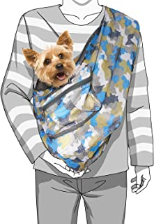 Foldable Camouflage Print Mesh Dog/Cat Carrier Crossbody Sling Bag Medium Size (Ideal for dog/cat below 7kgs/15.5lbs)