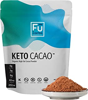Fū Carbs Keto Cacao Powder - Low Carb & Certified Organic. Twice the Fat of other Brands' Cocoa Powder. Perfect for Coffee...